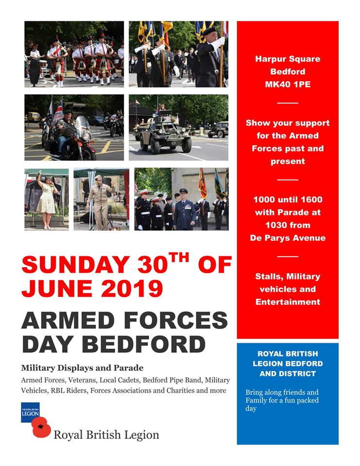 armed forces day bedford plakat