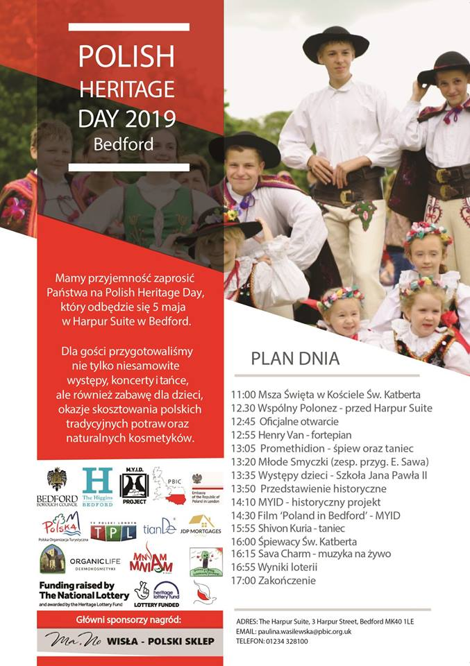 polish heritage day bedford 2019 plakat