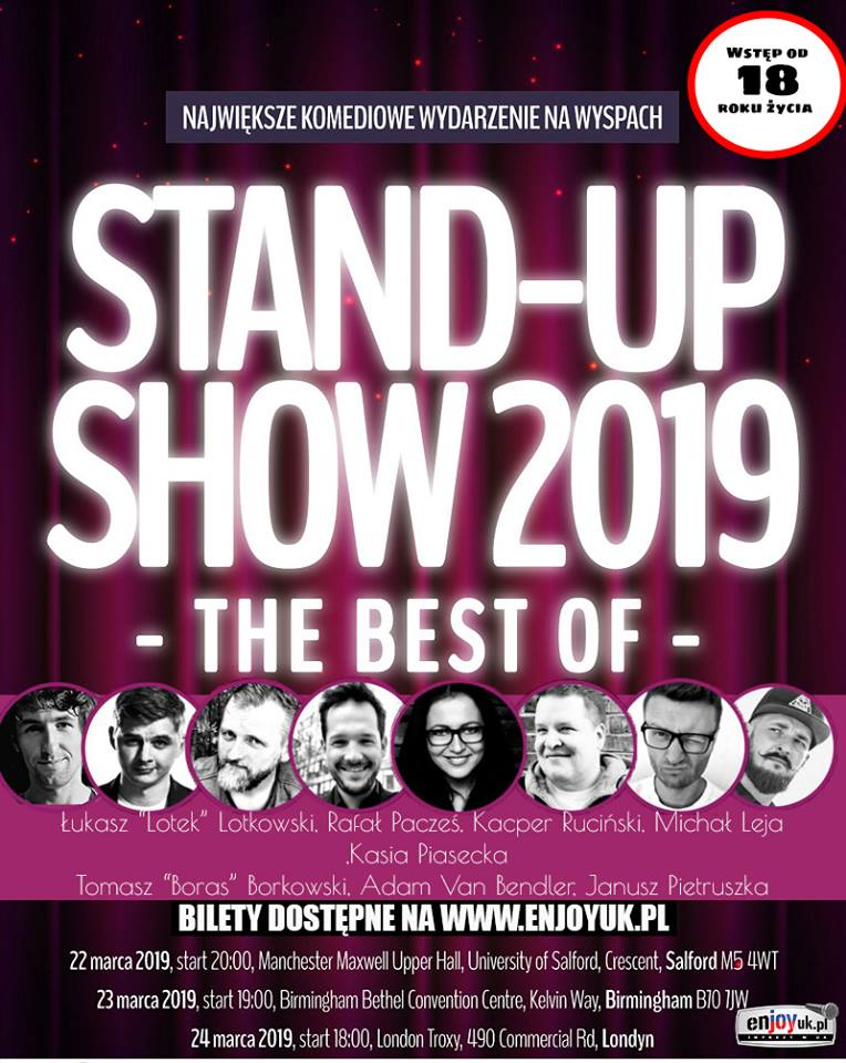 stand up londyn 2019 plakat