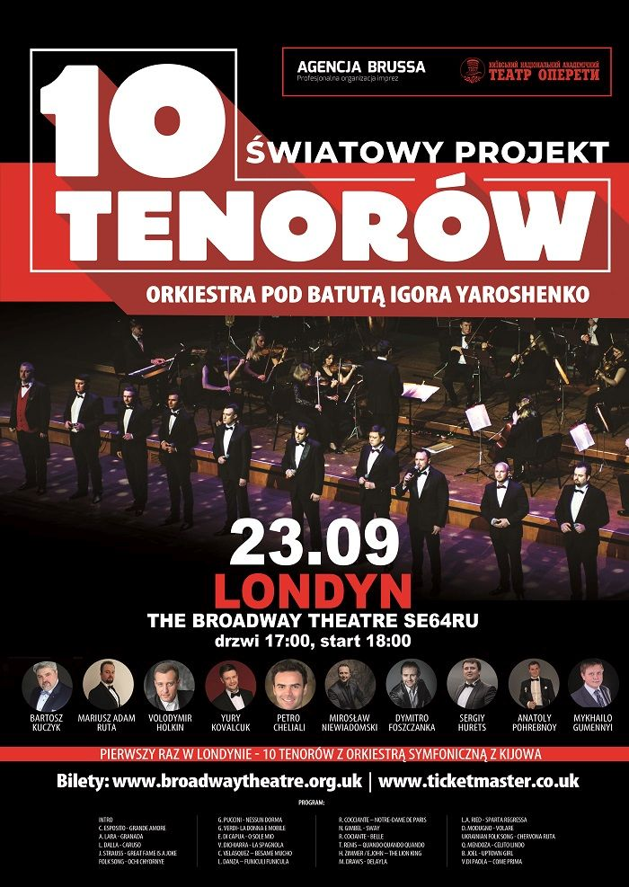 tenorzy 10 uk plakat